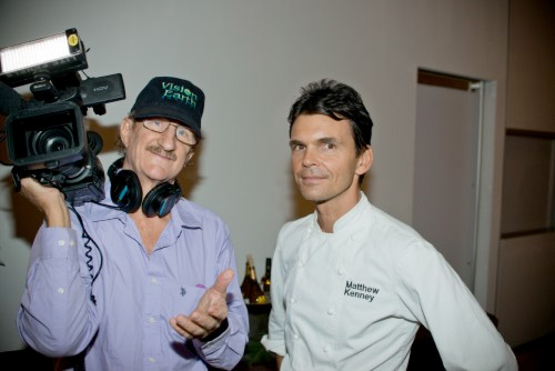 David Haylock with raw food chef Matthew Kenney