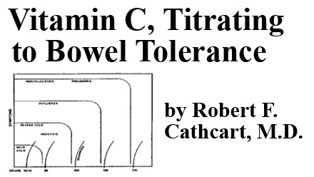 Health - Vitamin C, Titrating to Bowel Tolerance