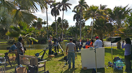 Behind the scenes at Fairchild Gardens for Raw Talk Series